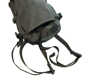 Two stowable straps with quick release buckles can be used to mount the bag or carry additional gear.