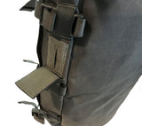 An extra closable port on the side of the SKRAM Go Bag for drinking tubes.