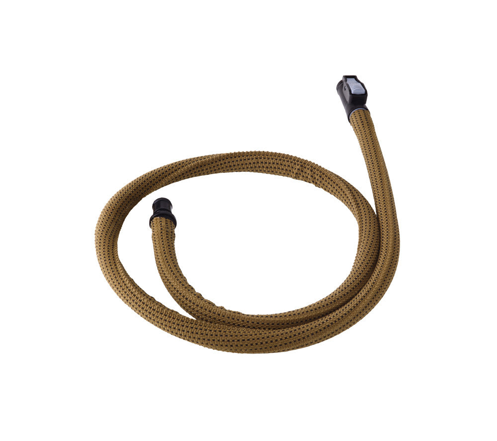 The Kangaroo Collapsible Canteen includes a tan drinking tube for on the go hydration.