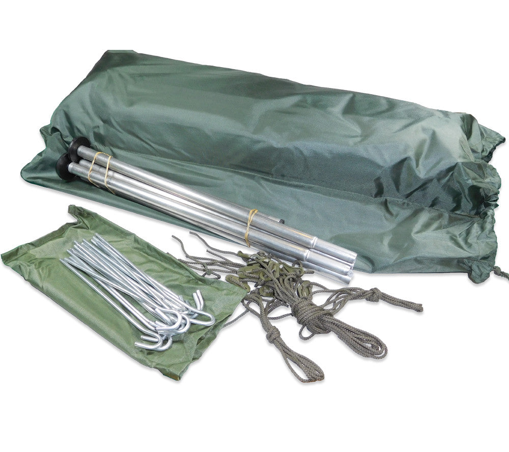 The French Army F1 Tent includes 2-man tent aluminum poles steel stakes  sc 1 st  5col Survival Supply & F1 Commando Pup Tent | French Army Military Surplus | 5col Survival