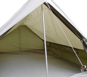 The inside of the F1 tent includes openable flaps for increased ventilation.