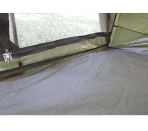 The French Army F1 Tent has a waterproofed bathtub style floor to keep moisture out.