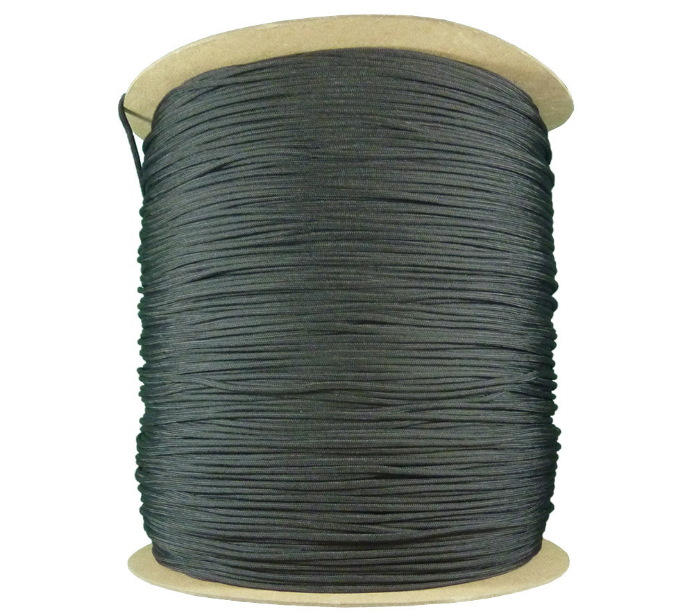 3000 ft Spool of 550 Paracord, PIA-C-5040 Type 3, Black