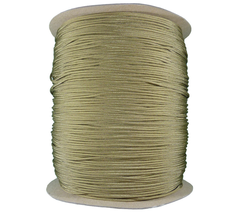 Coyote Brown 1000 yd Spool 550 Type 3 Parachute Cord