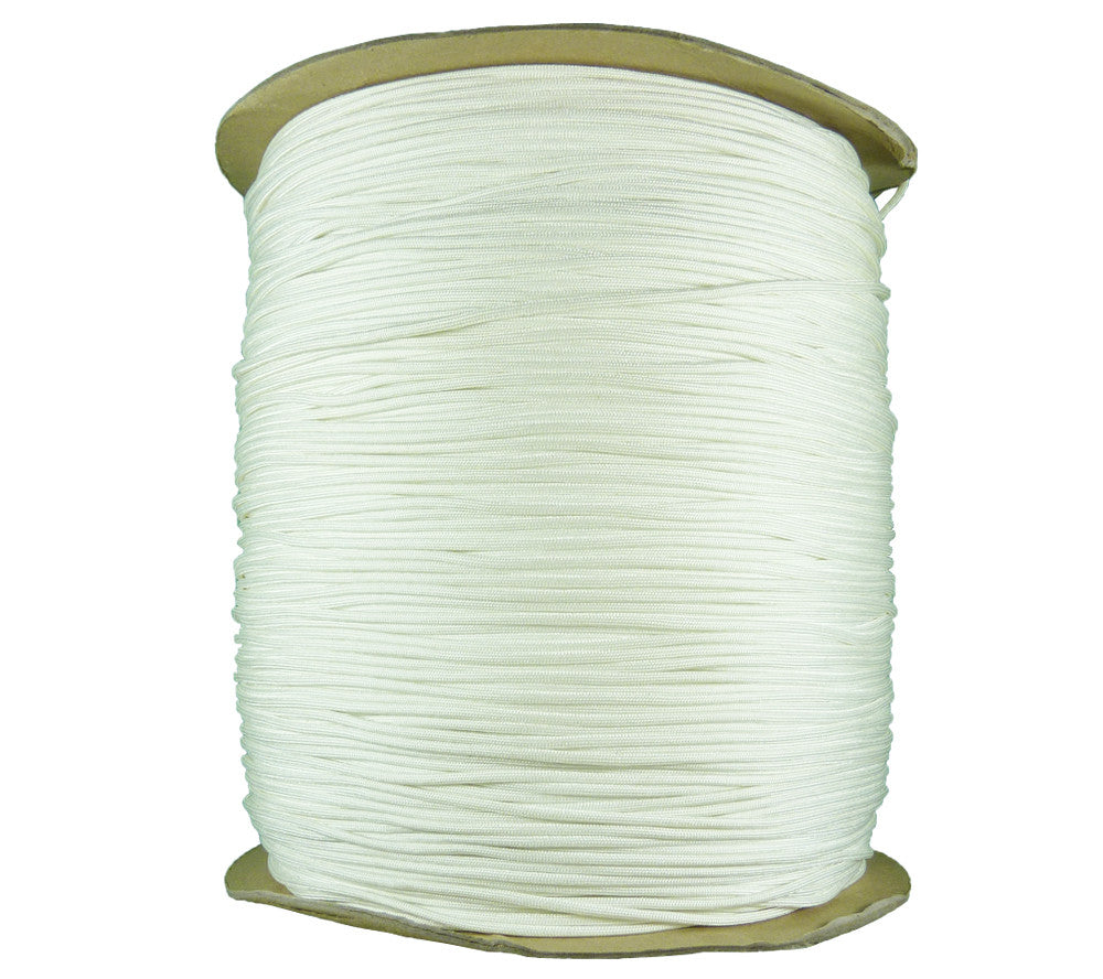 White/Natural Type 3 550 Parachute Cord, 3000 ft spool