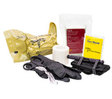 The Downed Officer Kit includes SOFTT-W Tourniquet, OLAES Bandage, Compressed Gauze, Tape, Shears, Gloves, and CPR Face Shield.