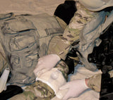Applying the OLAES Bandage from TacMed's Downed Officer Kit (DOK).