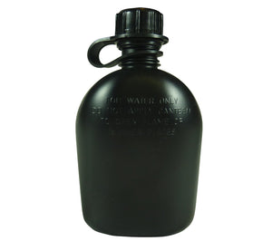 USGI 1 quart canteen, Black, made in the USA.