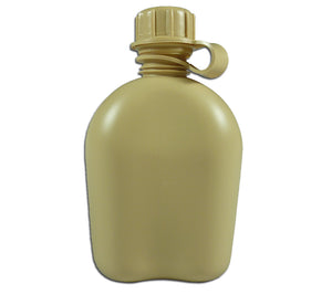 1 Qt USGI Canteen, Tan, Made in USA