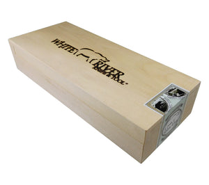 Store your Firecraft Knife in its wooden presentation box.