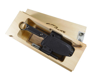 WRK ships the Firecraft 3.5 Pro Knife in a beautiful wooden presentation box.