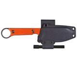 WRK's Firecraft 3.5 sheath can be configured for horizontal or vertical carry.