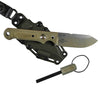 The Firecraft 4 with kydex sheath and ferro rod by White River Knife and Tool.