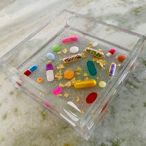 The Holographic Silver Catchall with Gold Leaf