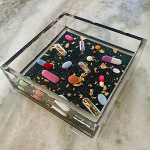 The Black Catchall - Diamond Dust Glitter Base + Gold Leaf