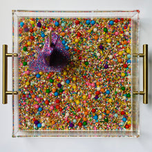 "Load image into Gallery viewer, Limited Edition Resin Art - Lucite Tray with Popsicle Sculpture (Sprinkle Tray with a ""Party Like A Rockstar"" Pop)"