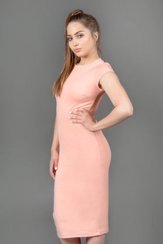 Peachy Keen Midi Dress - Peach