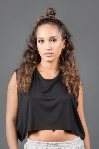 Sway Me Crop Top - Black