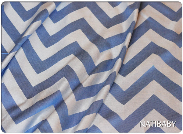 Archive: Natibaby Chevron Blue (Bamboo Blend)