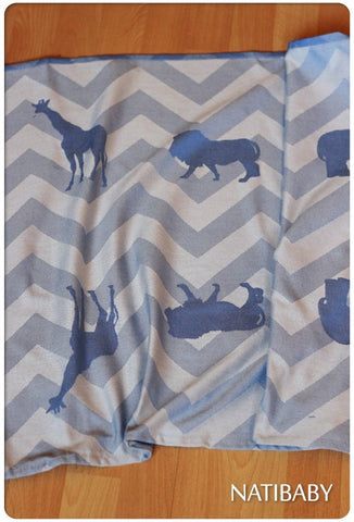 Archive: Natibaby Chevron Blue Zoo (Bamboo Blend)