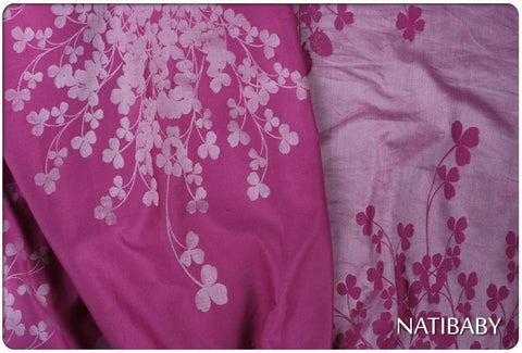 Bargain Bin: Natibaby Clovers Magenta (Silk/Ramie Blend)