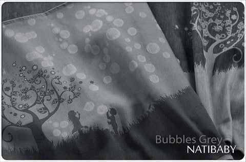 Archive: Natibaby Bubbles Grey (Linen Blend) Size 5 (4.2 Meters)