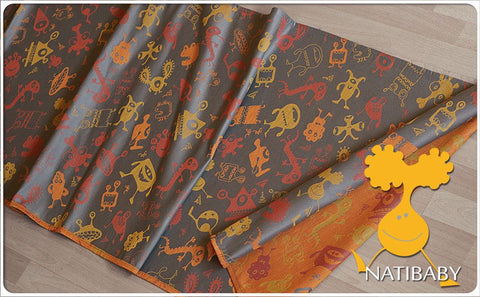 Archive: Natibaby Monsters Summer Orange (Linen Blend)