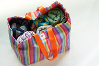 Sandy Toes & Salty Kisses Wrap Conversion Weekender Bag: Natibaby Rainbow