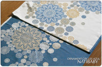 Archive: Natibaby Ornament Circles Azul (Bamboo Cotton Blend)