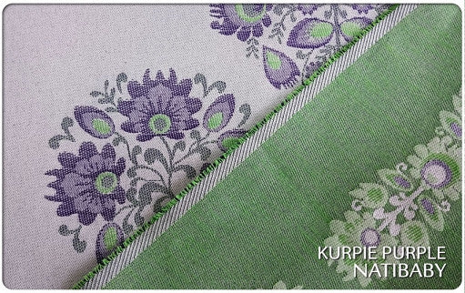 Archive: Natibaby Kurpie Purple (Cotton/Hemp Blend)