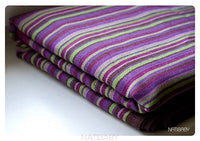 Natibaby provence woven wrap, baby carrier. A beautiful shades of purples and greens with small stripes. Marsupial Mamas.