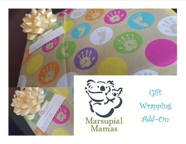 Gift wrapping is now available at Marsupial Mamas