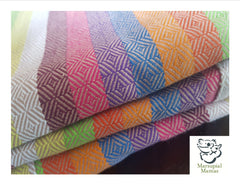 Baby Doo Duha, Rainbow stripes woven wrap. A great baby carrier for all new parents/caregiver.