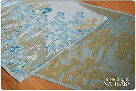 Archive: Natibaby Irises Bright (Linen Blend)