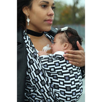 Yaro Triggers Ultra Black White Bamboo Ring Sling