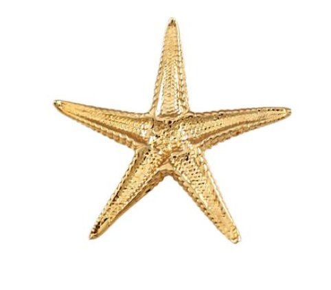 "10074 - 13/16"" STARFISH HIDDEN BAIL CHARM - UNDERSIDE - Jewelry Works"