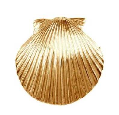 "10176 - 1 1/4"" SCALLOP SHELL WITH HIDDEN BAIL - Jewelry Works"