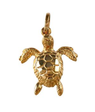 "10228 - 1"" SOLID GREEN SEA TURTLE - Jewelry Works"