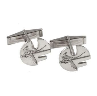 "5/8"" Sterling Silver Retro Style Pell Logo University of Florida Cuff Links - Jewelry Works"