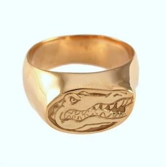 Albert Gator Head Logo 14K Gold Ring