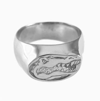 Albert Gator Head Logo Sterling Silver