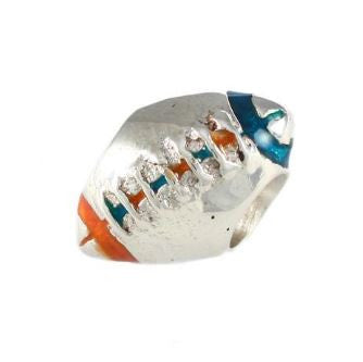 Gator Bead Orange and Blue Football - Jewelry Works