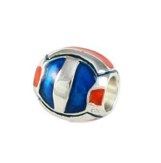 Gator Bead Orange and Blue Volleyball - Jewelry Works