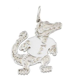 "1 1/4"" Albert Gator Sterling Silver Pendant - Jewelry Works"