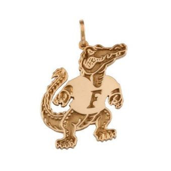 "1"" Albert Gator 14K Gold Pendant - Jewelry Works"