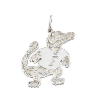 "1"" Albert Gator Sterling Silver Pendant - Jewelry Works"