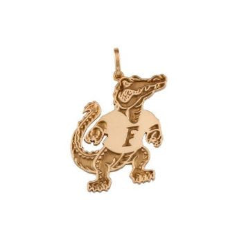 "3/4"" Albert Gator 14K Gold Pendant - Jewelry Works"