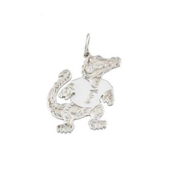 "3/4"" Albert Gator Sterling Silver Pendant - Jewelry Works"