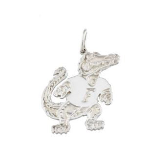 "7/8"" Albert Gator Sterling Silver Pendant - Jewelry Works"