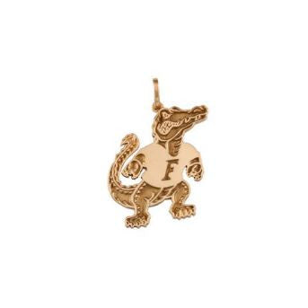 "3/8"" Albert Gator 14K Gold Pendant - Jewelry Works"
